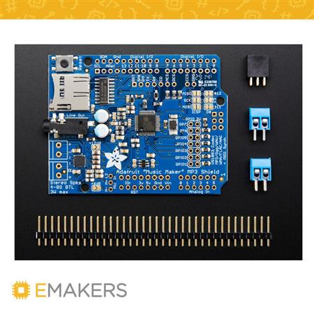 """Music Maker"" MP3 Shield para Arduino c / 3W Amp Stereo"